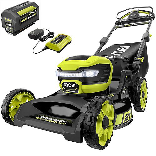 40V 21-inch Lithium-Ion Brushless Cordless Walk Behind Self-Propelled Mower with 7.5 Ah Battery