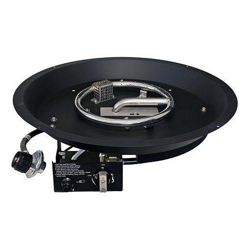 Paramount Round Convertible Burner Black Pan