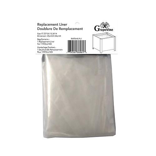 Doublure de remplacement en plastique pour jardinière carrée 11972Lu MO