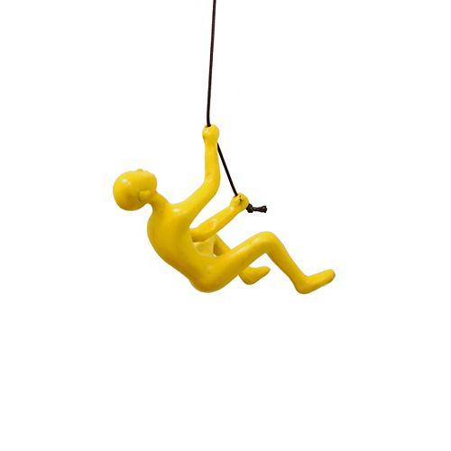 Climbing Man Yellow Wall Art