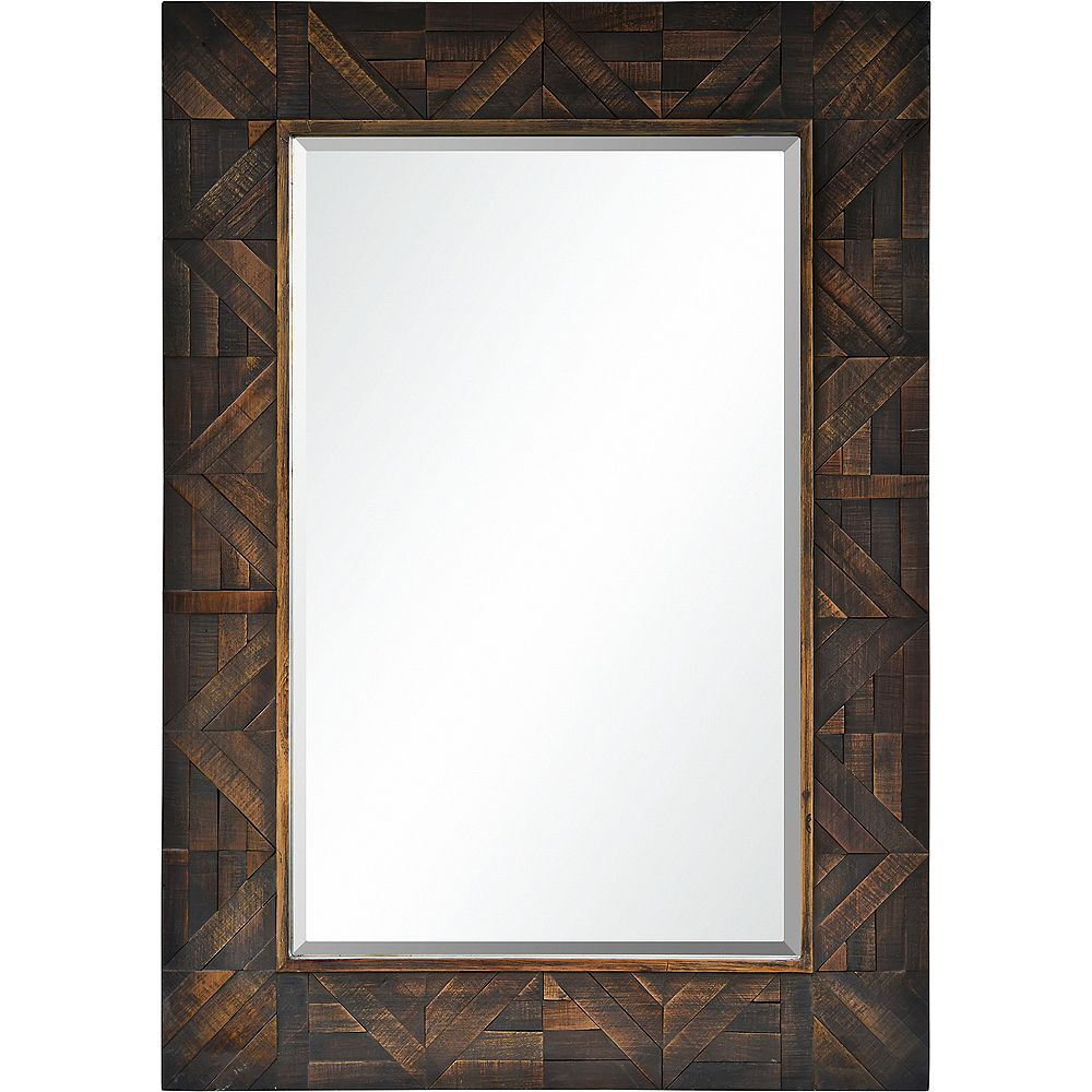 Notre Dame Design Maddy Dark Wood Decorative Mirror