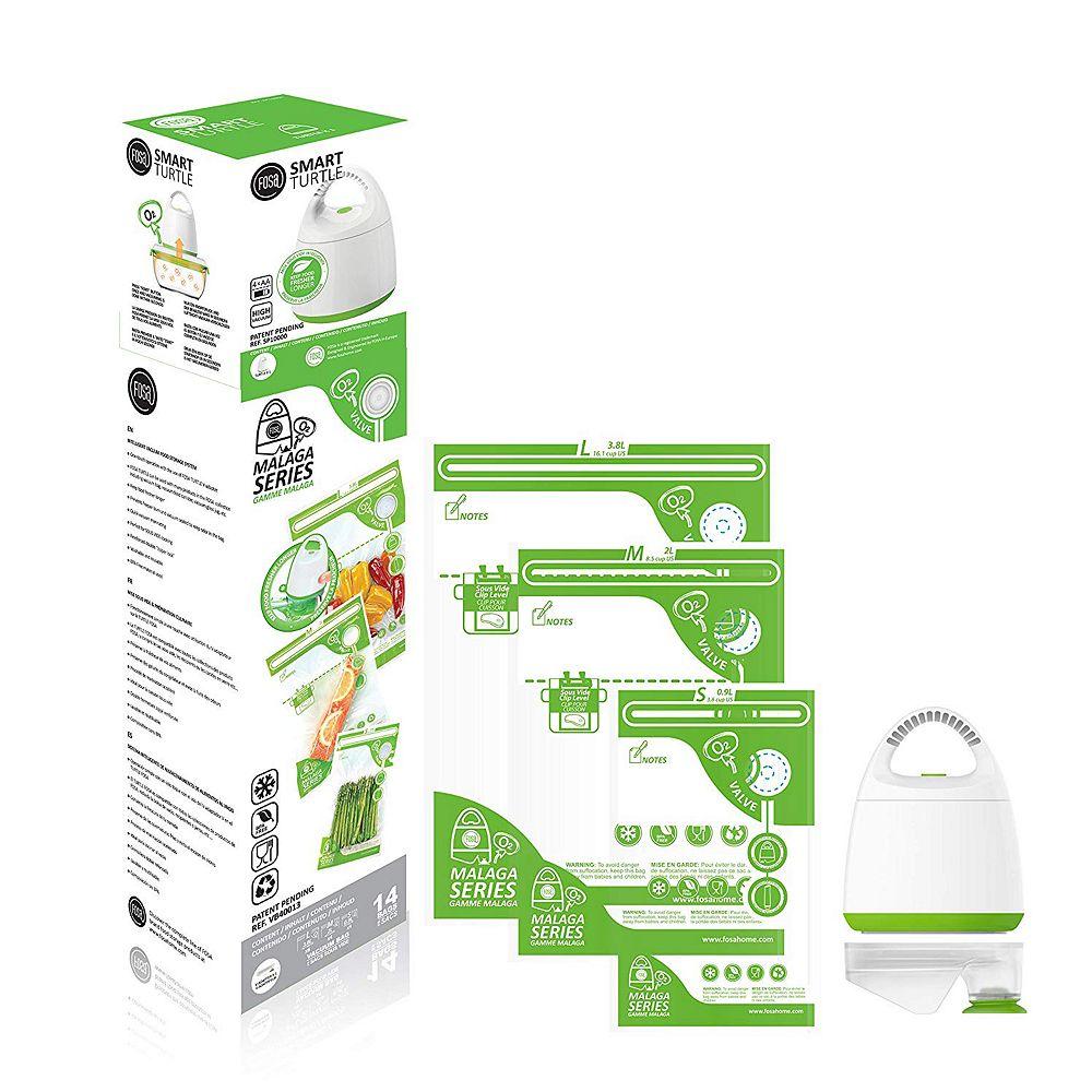 FOSA Malaga Series Vacuum Food Storage System Vacuum Bag Starter Set