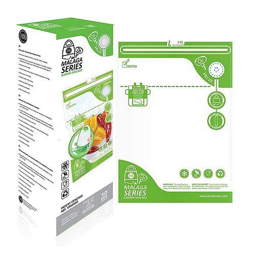 FOSA Série Malaga: Kit de grands sachets sous vide pour système de stockage des aliments sous vide
