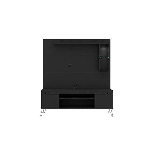 Baxter 62.99 Freestanding Entertainment Center in Black