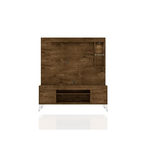 Baxter 62.99 Freestanding Entertainment Center in Rustic Brown