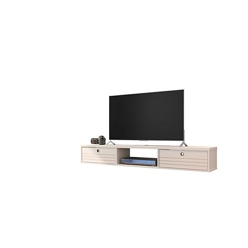 Liberty 62.99 Floating Entertainment Center in Off White