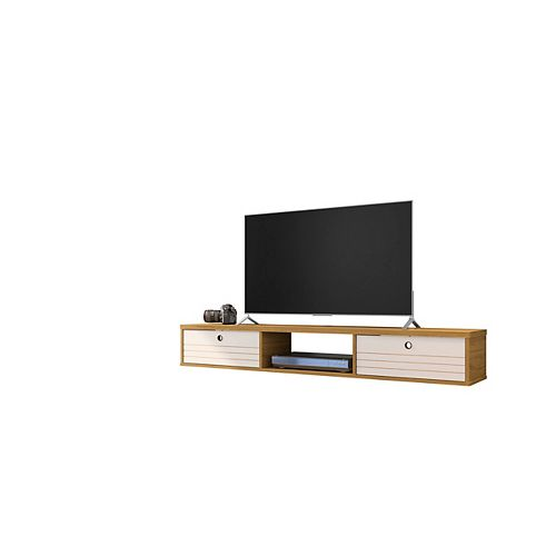 Liberty 62.99 Floating Entertainment Center in Cinnamon and Off White