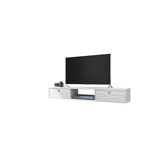 Liberty 62.99 Floating Entertainment Center in White