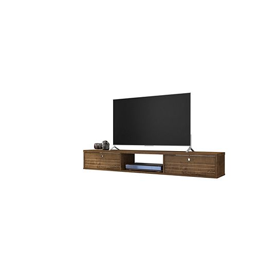 Liberty 62.99 Floating Entertainment Center in Rustic Brown