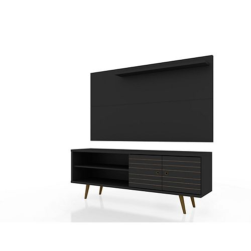 Liberty 62.99 TV Stand and Panel in Black