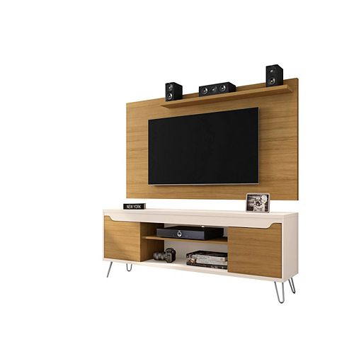 Baxter 62.99 TV Stand and Liberty Panel in Cinnamon and Off White