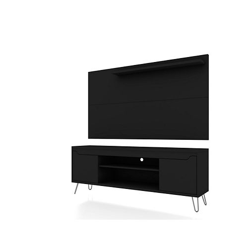 Baxter 62.99 TV Stand and Liberty Panel in Black