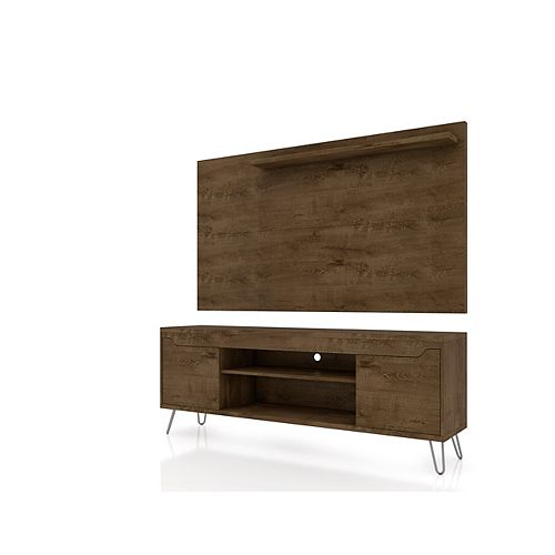 Baxter 62.99 TV Stand and Liberty Panel in Rustic Brown