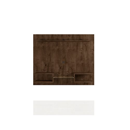 Plaza 64.25 Floating Entertainment Center in Rustic Brown