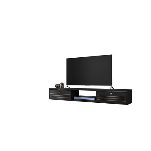 Liberty 62.99 Floating Entertainment Center in Black