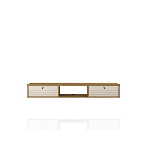 Liberty 62.99 Floating Office Desk in Cinnamon and Off White