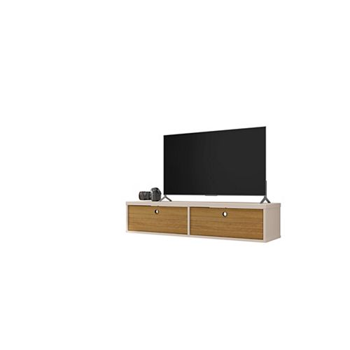 Liberty 42.28 Floating Entertainment Center in Off White and Cinnamon