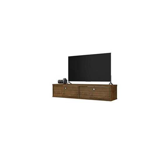 Liberty 42.28 Floating Entertainment Center in Rustic Brown