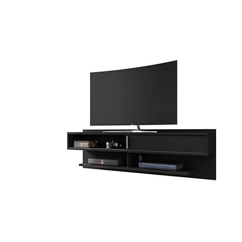 Manhattan Comfort Astor 70.86 Floating Entertainment Center in Black