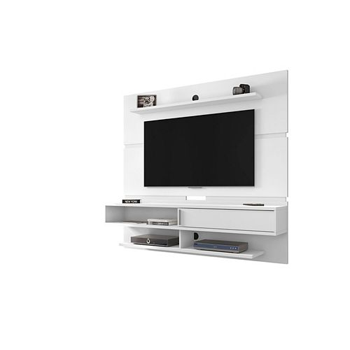 Astor 70.86 Floating Entertainment Center in White