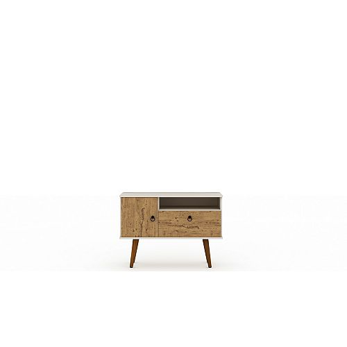 Tribeca 35.43 TV Stand in Off White and Nature