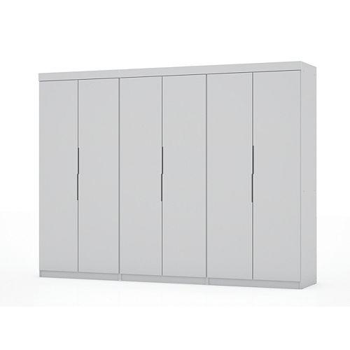 Mulberry 2.0 Wardrobe Closet  Set of 3 in White