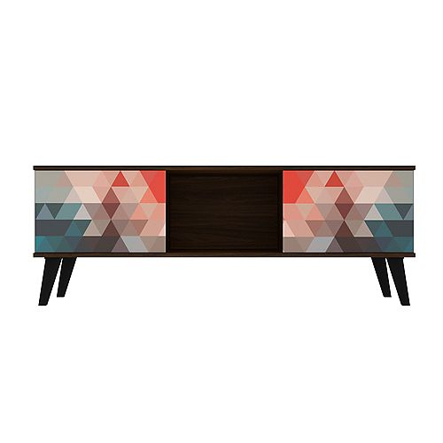 Doyers 53.15 TV Stand in Multicolor Red and Blue