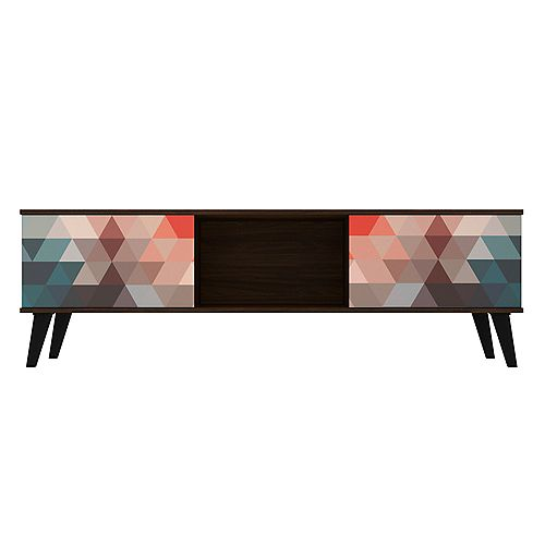 Doyers 62.20 TV Stand in Multicolor Red and Blue