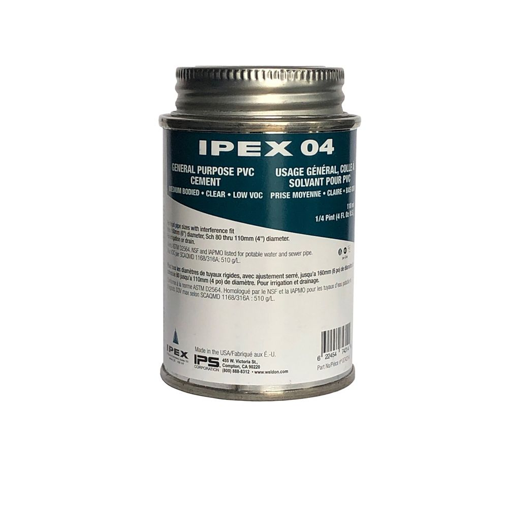 IPEX HomeRite Products Colle a solvant pour PVC 118ml