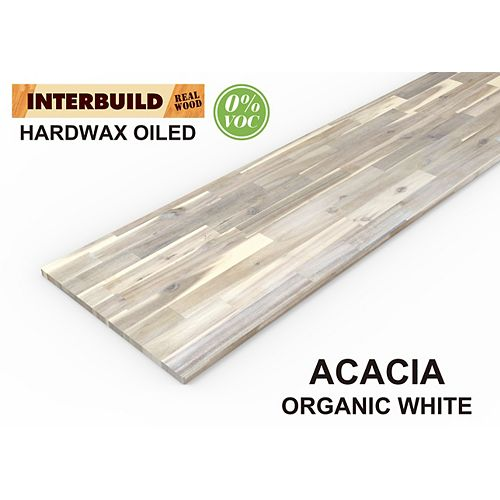 Home Decorators Collection Hardwood Island Top Countertop, 74 inch x 40 inch x 1 inch, Organic White Hardwax Oil Food-Safe Finish