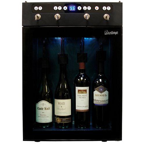 4-Bottle Wine Dispenser and Preserver
