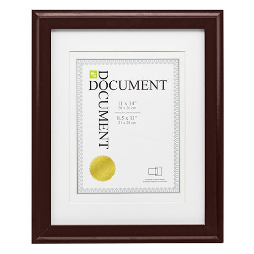 Cadre document Oxford KG, espresso