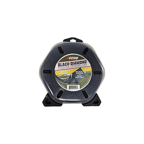 ECHO 1LB 0.105 BLACK DIAMOND STRING TRIMMER LINE (217')