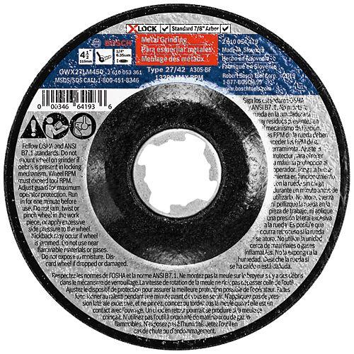 4-1/2 In. x 1/4 In. X-LOCK Arbor Type 27 30 Grit Metal Grinding Abrasive Wheel