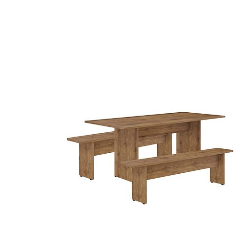 NoMad 67.91 Dining Set of 3 in Nature