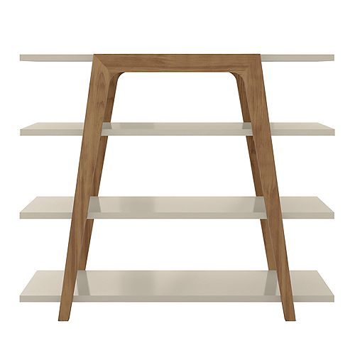 Manhattan Comfort Gowanus Ladder Bookcase in Off White