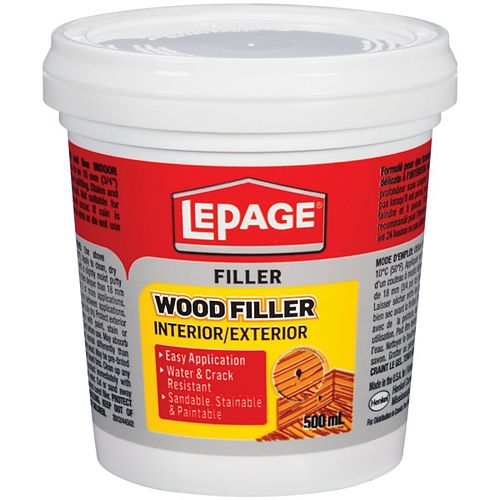LePage Wood Filler Int/Ext 500 mL