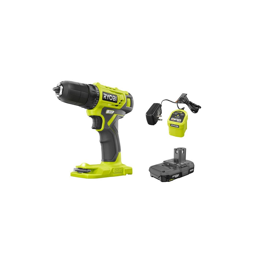 RYOBI 18V ONE+ Cordless 3/8-inch Drill/Driver Kit with 1.5 Ah Battery and Charger