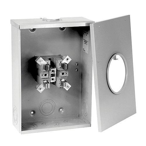 Microelectric Socle de compteurs à boîtier surdimensionné 200 Amp service aérien