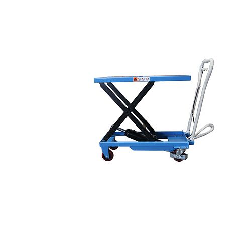 330 lbs. 17.7 in x 27.6 in. Scissor Lift Table Cart