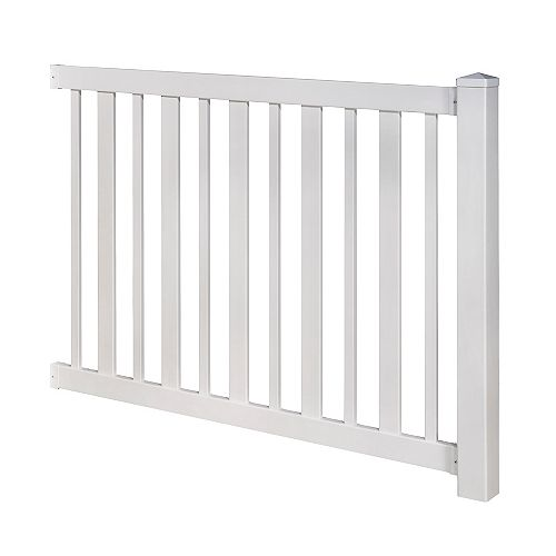 Sturbridge 4 ft. H x 6 ft. W No-Dig Vinyl Fence Panel Kit with Post