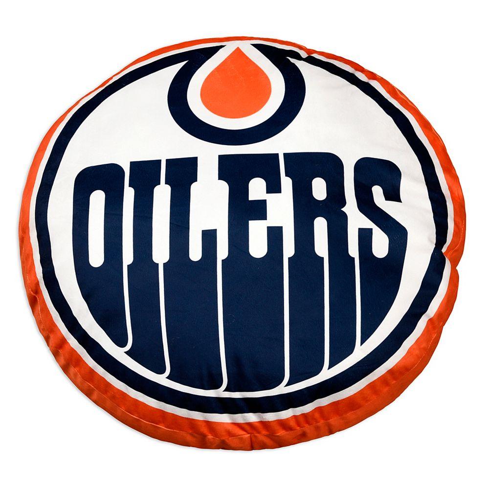 Nhl Nhl Edmonton Oilers Jumbo Logo Pillow The Home Depot Canada
