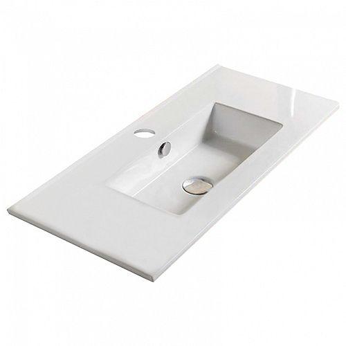 24 inch W One Hole Ceramic Top