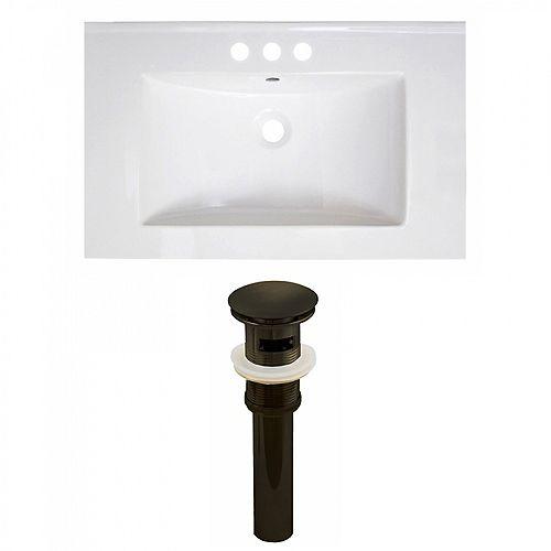 30 inch W 3H4 inch Ceramic Top