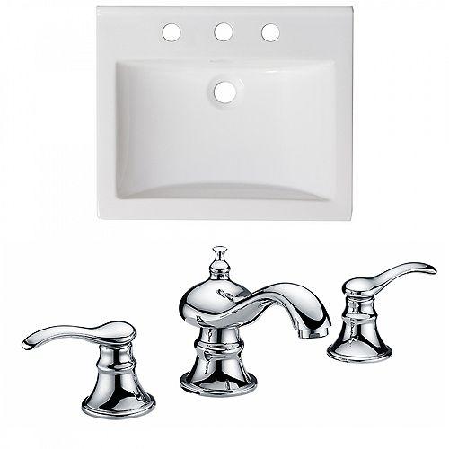 21 inch W Ceramic Top W/Faucet
