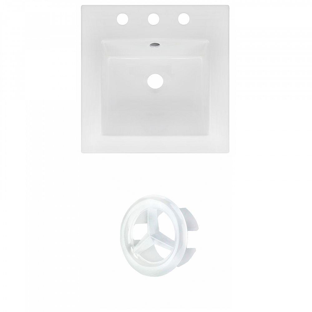 American Imaginations 16.5 inch W 3H8 inch Ceramic Top