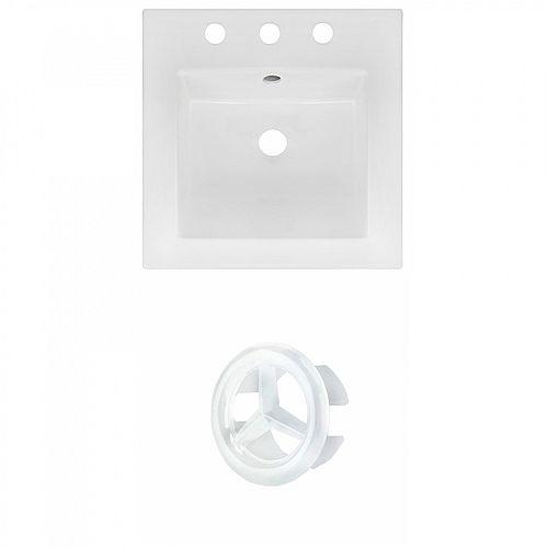 16.5 inch W 3H8 inch Ceramic Top