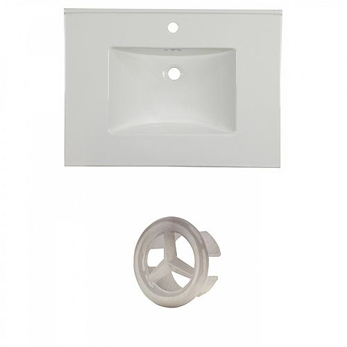 30.75 inch W One Hole Ceramic Top