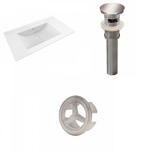 19.75 inch D Drop-in Ceramic Top