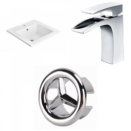 18 inch D Ceramic Top W/Faucet